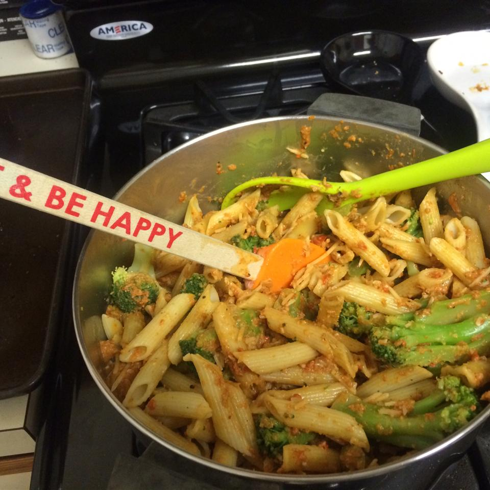 Penne with Red Pepper Sauce and Broccoli Nathalie