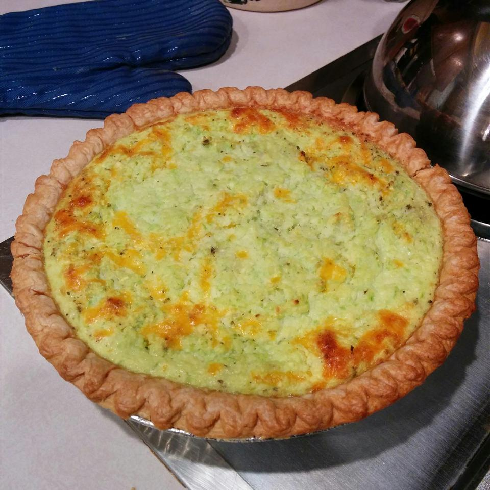 Zucchini Pie with Bacon