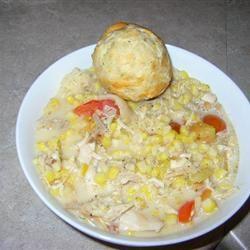 Creamy Chicken with Corn, Tarragon and Tomatoes SBODI
