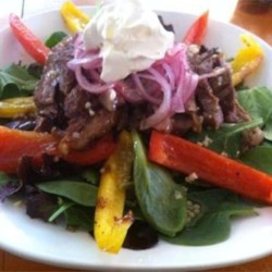 Grilled Fajita Steak Salad With Pickled Pink Onions Recipe