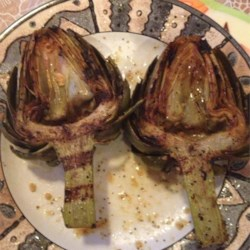 Grilled Garlic Artichokes