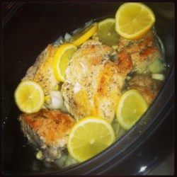 Slow Cooker Lemon and Thyme Chicken Recipe