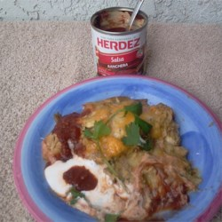 Easy Green Chile Chicken Enchiladas Recipe