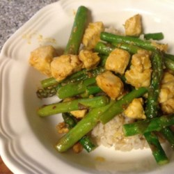 Orange Chicken with Asparagus