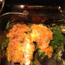 Crunchy Cheesy Fish and Spinach Casserole
