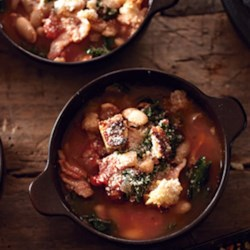 Photo of Rustic Tuscan Soup with Kale by KRAFT Grated Parmesan Cheese