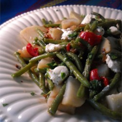 Warm Green Bean and Potato Salad with Goat Cheese Recipe