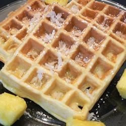 Hawaiian Waffles with Pineapple and Coconut Recipe