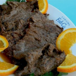 Grilled Blood Orange Chuck Steak
