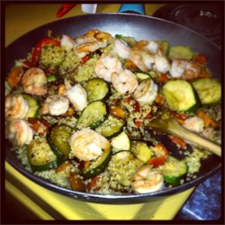 Shrimp & Quinoa Vegetable Stirfry