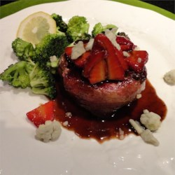 Filet Mignon and Balsamic Strawberries Recipe