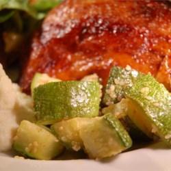 Sesame Parmesan Zucchini Recipe