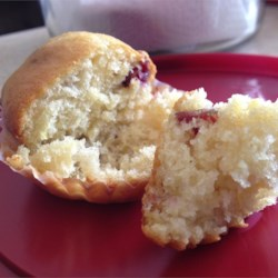 Lemon Cranberry Muffins Recipe