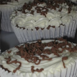German Chocolate Fudge Cupcakes