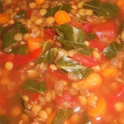 Lentil and Green Collard Soup Recipe