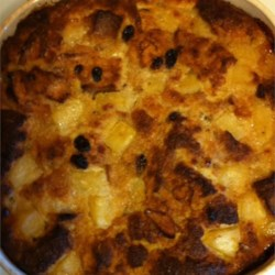 Pineapple Bread Pudding with Raisins Recipe