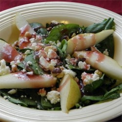 Spinach, Pear and Feta Salad