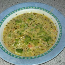Broccoli and 3 Cheese Soup