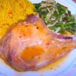 Orange Pork Chops with Tarragon Recipe