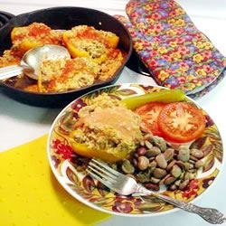 Hungarian Stuffed Yellow Peppers Recipe