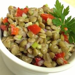 mediterranean style roasted red pepper and lentil salad printer