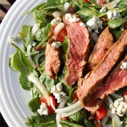 Steak Salad with Medjool Dates and Blue Cheese