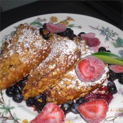 Three Cheese-Stuffed French Toast Recipe