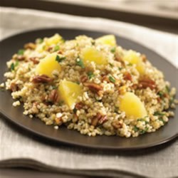 Bulgur Wheat with Pineapple, Pecans and Basil Recipe