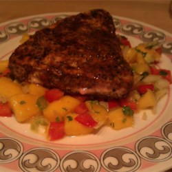 Blackened Tuna Steaks with Mango Salsa Recipe