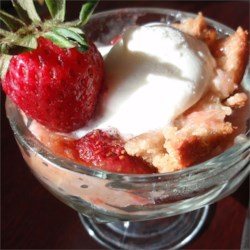 Easy Rhubarb Pudding Cake Recipe