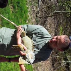 Steve with Paulie the Iguana