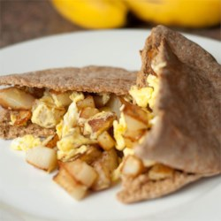 Quick Breakfast in a Pita Recipe