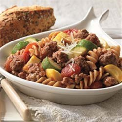 Beef and Pasta Skillet Primavera Recipe