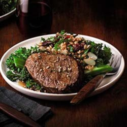 Beef Filets with Ancient Grain and Kale Salad Recipe