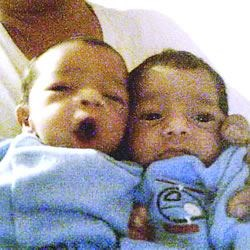 The twins, Jaden and Elijah