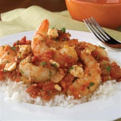 Shrimp with Tomato and Feta