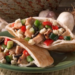 Greek Pepper Pitas Recipe