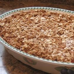 Low Sugar Strawberry Rhubarb Crunch Recipe