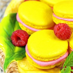 Raspberry Filled Lemon Macaron