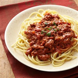 Spaghetti with Easy Bolognese Sauce Recipe