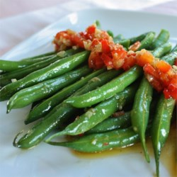 Garlicky, Spicy and Sesamey Green Beans Recipe