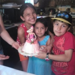 """My Kiddos"" with Barbie Princess Cake"