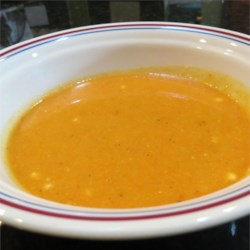 Roasted Carrot and Cauliflower Curried Soup Recipe