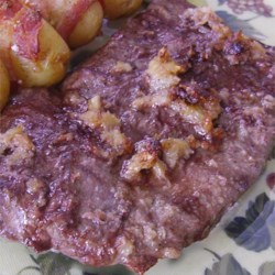 Roasted Garlic Flat Iron Steak Recipe