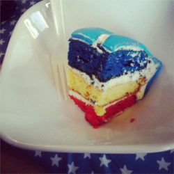 Surprise Inside Independence Cake Recipe
