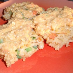 Golden Rice Cakes with Sweet Potato-Ginger Sauce Recipe