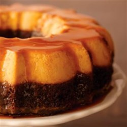 Portuguese Flan With Chocolate Cake