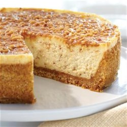 English Toffee Cheesecake from EAGLE BRAND(R) Recipe