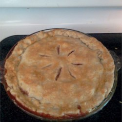 Nicki's Summer Strawberry Rhubarb Pie Recipe