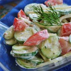 Creamy Cucumber Tomato Salad Recipe